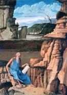 Saint Jerome reading in a Landscape, c1480-1485