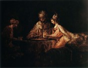 Assuerus, Haman and Esther, 1660