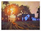 Sunrise Over Farmhouse