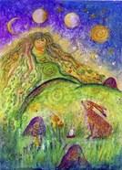 Goddess Ostara And The Spring Hare
