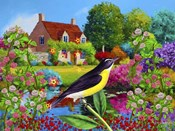 Spring Bird And Flowers