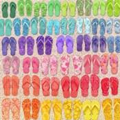 Rainbow Flipflops