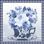 Blue Teacup Bouquet E