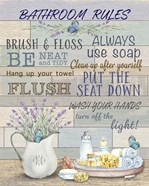 Lavender Bathroom Rules