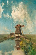 A Windmill on a Polder Waterway, c. 1889