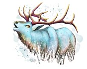 Woodlands- Teal Elk