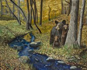 2 Bears Autumn Stroll