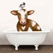 Cow in Bathtub