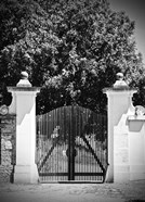 Wooden Gate Black and white