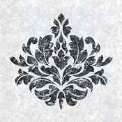 Textured Damask I on white