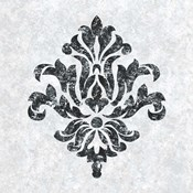 Textured Damask III on white