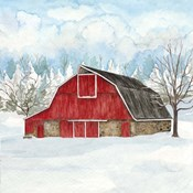 Winter Barn Quilt II