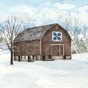Winter Barn Quilt III