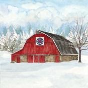 Winter Barn Quilt IV