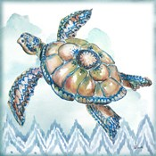Boho Shells I-Sea Turtle