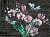 Boho Orchid landscape black