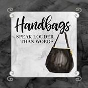 Fashion Humor XIII-Handbags Speak