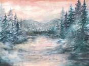 Morning Mist at Pine Lake