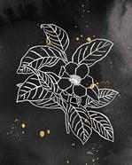 Indigo Blooms I Black
