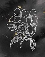 Indigo Blooms III Black