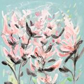 Wild Flowers on Teal