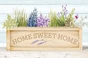 Lavender & Wood Planter Home