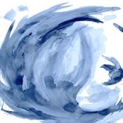 Blue Swirl Square II