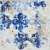 Blue Quatrefoil I