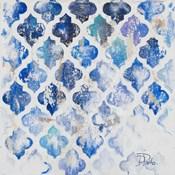 Blue Quatrefoil II