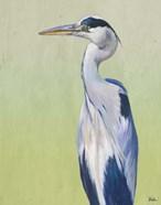 Blue Heron on Green II