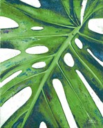 Tropical Leaf with Blue I