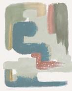 Maroon Bird Abstract