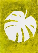 Tropical Leaf Stamp White