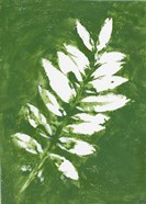 Tropical Leaf Branch Stamp White