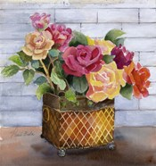 Roses in Copper Pot