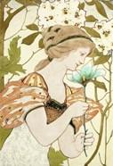 Art Nouveau Woman With Flower 1898