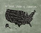 Chalk USA Map