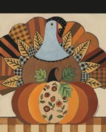 Turkey and Patterned Pumpkin