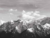 Snowcapped Mountains BW Crop