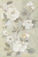 Romantic Spring Flowers I White