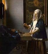 Woman Holding a Balance, 1664