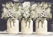 White Floral Trio