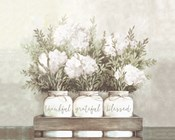 White Flower Jars
