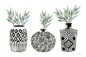 Geometric Vases I Green