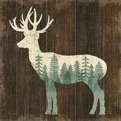 Simple Living Deer Silhouette