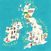 Illustrated Countries UK + Ireland