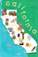 Illustrated State Maps California
