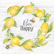 Lemons & Bees Sentiment woodgrain II