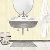 Farmhouse Bath II Gray & Yellow 2-Sink