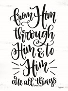 From Him